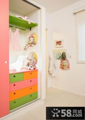 家装儿童步入式衣帽间效果图片