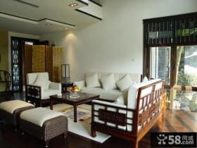 现代中式风格客厅隔断屏风设计效果图