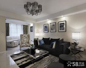 时尚黑白现代客厅装修案例