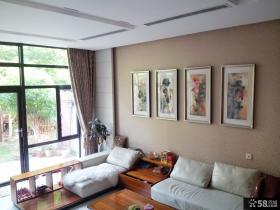 新中式风格客厅装修效果图片欣赏