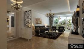 欧式风格客厅大理石背景墙装修效果图