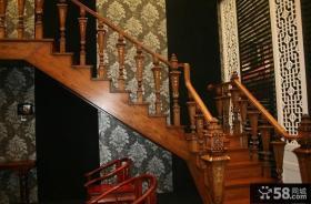 实木楼梯扶手设计图片大全
