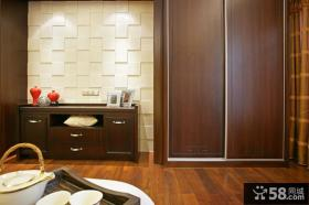 中式风格室内推拉门衣柜设计图片