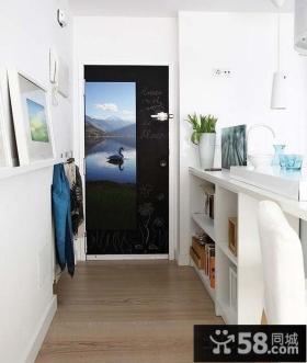 小户型进门玄关涂鸦黑板装饰效果图