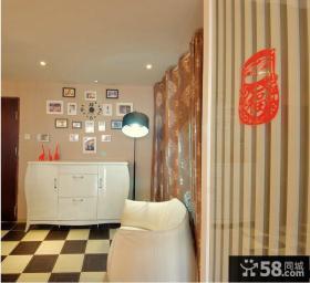 新房装修室内玄关鞋柜效果图