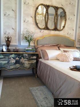 欧式风格卧室床头背景墙效果图欣赏