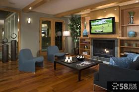 豪华的现代风格电视背景墙装修效果图大全2014图片