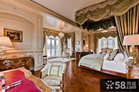 美式奢华的别墅客厅装修效果图大全2014图片