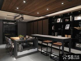现代风格复式餐厅装修效果图片