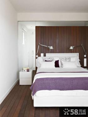 美式乡村风格别墅卧室木地板装修效果图