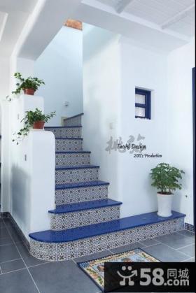 地中海阁楼楼梯装修效果图