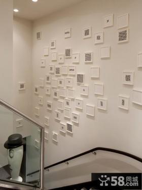 楼梯照片墙装饰