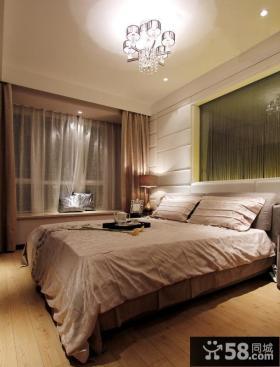 简约小户型卧室飘窗装修设计效果图