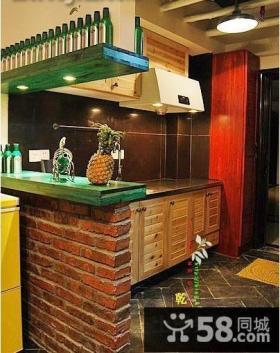 20平米小户型装修图东南亚风厨房橱柜