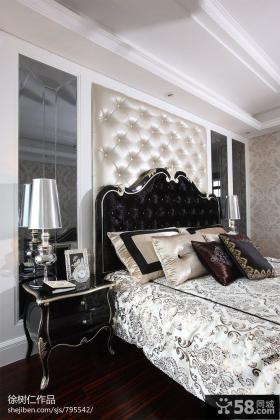 欧式软包床头背景墙装修效果图