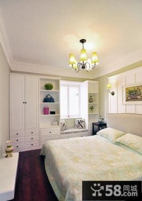 欧式主卧室飘窗设计效果图