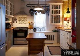美式田园风格小户型厨房橱柜装修效果图大全2013图片