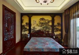 中式古典卧室设计装潢