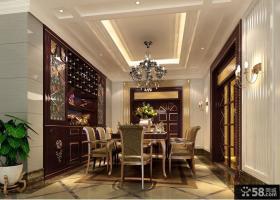 欧式餐厅吊顶灯设计效果图