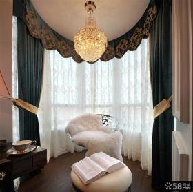 简欧风格阳台窗帘图片