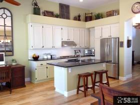 半开放是厨房装修效果图