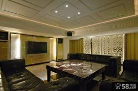 豪华别墅室内装修客厅电视背景墙图片