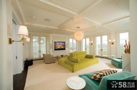 简约欧式别墅客厅装修效果图大全图片