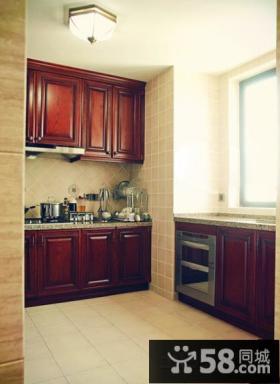 开放式小厨房整体橱柜效果图