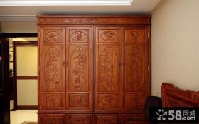 古典中式红木衣柜