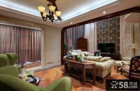 欧式古典设计别墅客厅装修效果图片