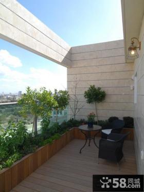 别墅露天阳台装修实景图