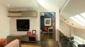 小复式客厅电视背景墙图片