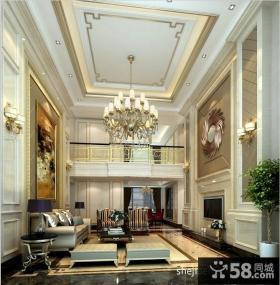 别墅客厅吊顶样板间设计