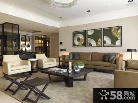 三房两厅深沉大气的客厅装修效果图大全2012图片