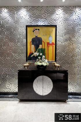 家居玄关中式装饰画图片