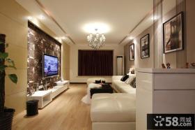 现代简约风格家装客厅电视背景墙装修设计图
