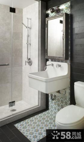 现代美式风格卫生间装修图片