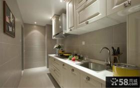简欧风格厨房整体实木橱柜装修效果图