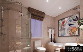 现代中式室内卫生间设计效果图欣赏