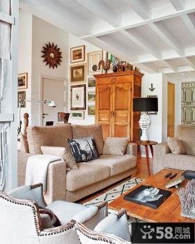 乡村小复式客厅装修效果图
