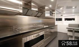 厨房不锈钢台面橱柜效果图