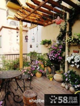 家庭阳台花园设计效果图