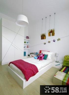 儿童房卧室背景墙装修效果图