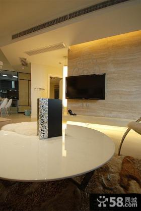 现代简约客厅电视背景墙瓷砖