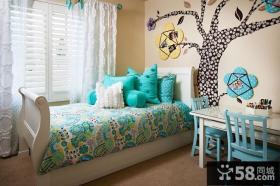 儿童卧室窗帘装修效果图