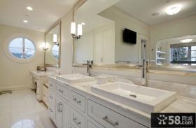 庄重豪华的现代美式风格卫生间装修效果图大全2012图片