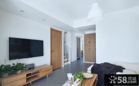 北欧简约风格复式家居装饰效果图