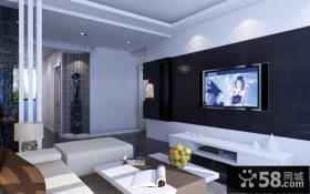 欧式客厅电视墙装修效果图