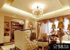 欧式风格两室两厅客厅吊顶装修效果图欣赏