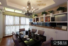 现代欧式餐厅厨房装饰图片